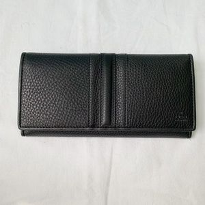 NWT Authentic Gucci Leather Stripe Long Wallet